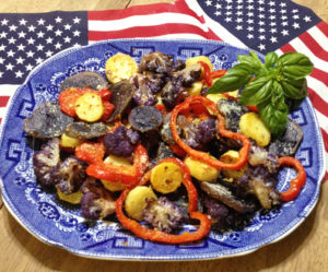 Garlic Parmesan Roasted Red White & Blue Veeggies 1 web
