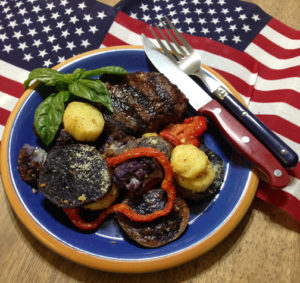 Garlic Parmesan Roasted Red White & Blue Veggies 2 web