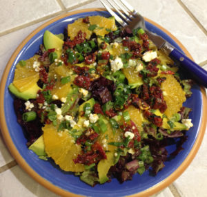 Orange Avocado Salad with Lemon Scallion Dressing web