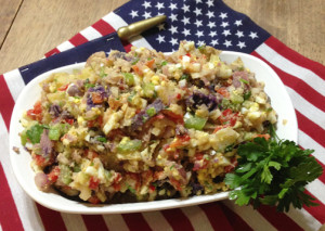 Red White & Blue Potato Salad web
