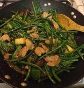 Long Beans & Chicken Stir Fry Web