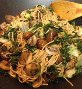 Baby Bok Choy & Mushroom Stir Fry Web
