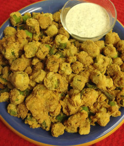Fried Okra with Ranch Dressing Web