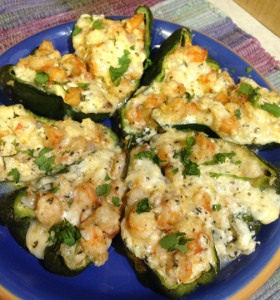 Mexican Peppers Stuffed with Shrimp & Four Cheeses Web