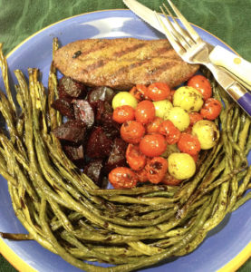 Roasted Long Beans Tomatoes Beets Web