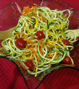 Spiralized Zucchini Salad Web