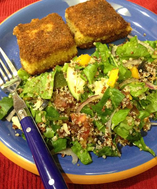 Spinach Quinoa Salad with Lemon Dressing - High Desert ...