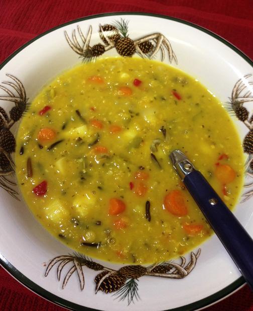 Vegetable, Lentil & Wild Rice Soup