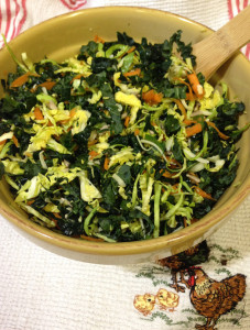 Brussels Sprouts & Kale Salad Web