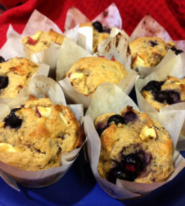 Apple Blueberry Lemon Muffins Web