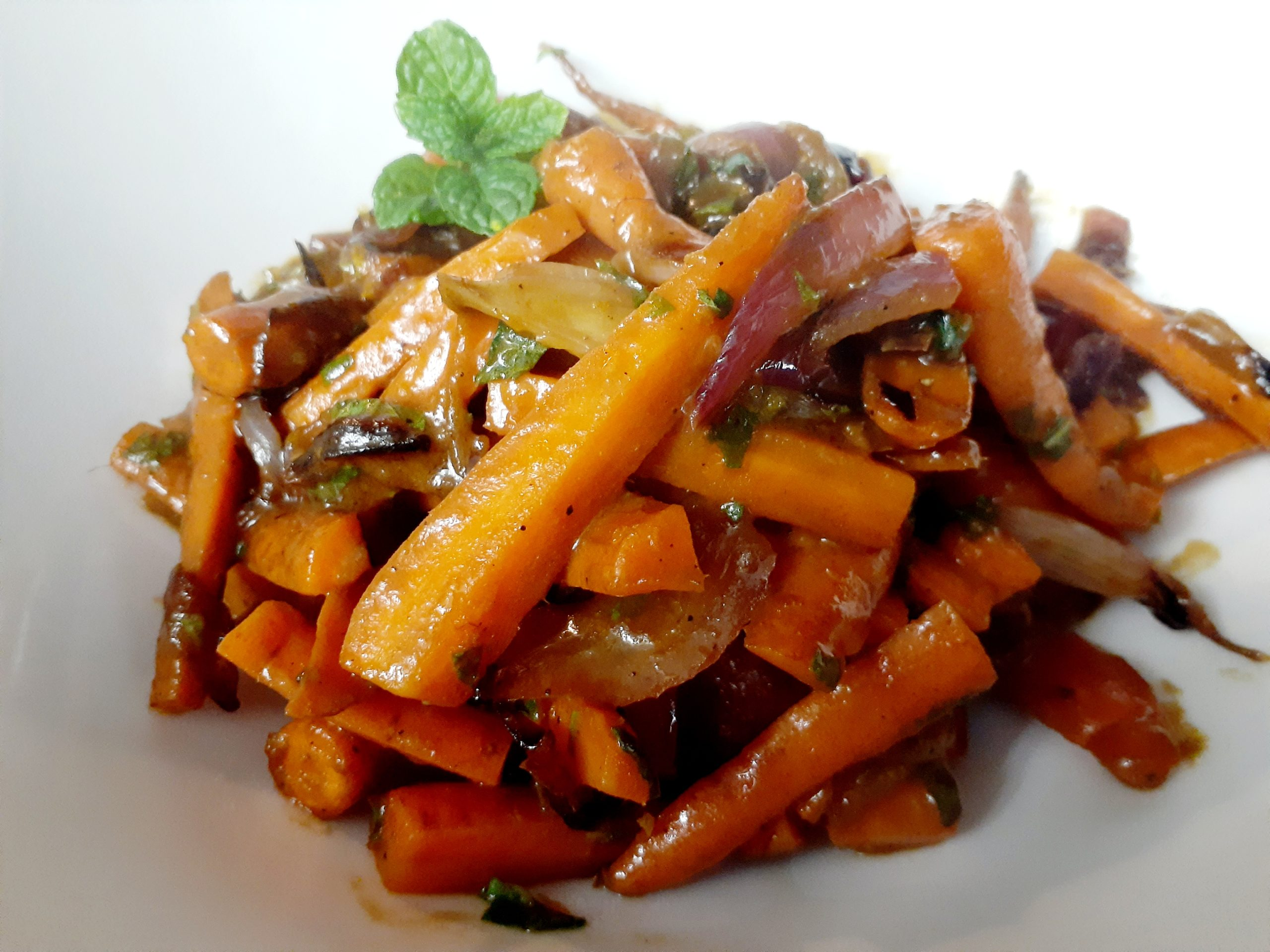 Glazed Carrots & Onions w/Mint by Stacey Amagrande