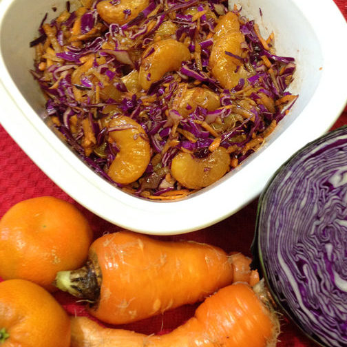 Balsamic Red Cabbage & Mandarin Salad Web