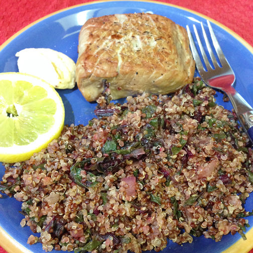 Beet Greens and Quinoa Web